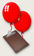 Red balloons - symbol of the petition drive...
